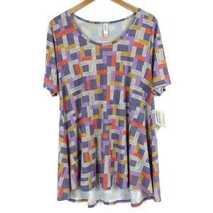 NWT Lularoe Perfect T Short Sleeve Hi-Low Shirt L